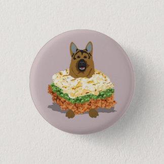 German Shepherd Pie Badge 1 Inch Round Button