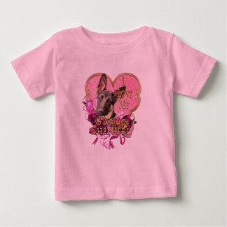 German Shepherd Pink Heart Love My Shep Baby T-Shirt