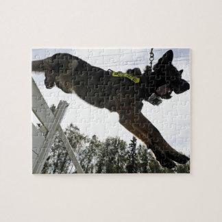 German Shepherd Police Dog Training Jigsaw Puzzle