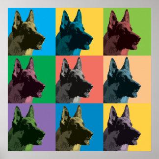 German Shepherd Pop-Art Poster