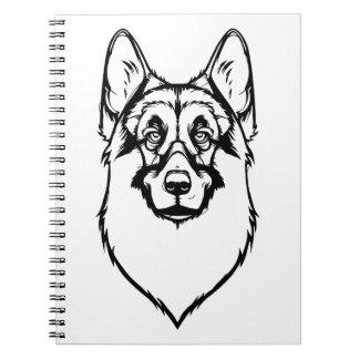 German Shepherd Portrait Note Book