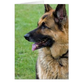 German Shepherd Profile Stationery Note Card