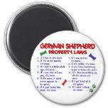 GERMAN SHEPHERD Property Laws 2 2 Inch Round Magnet