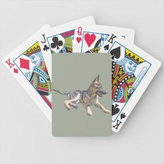 German Shepherd pup Bicycle Playing Cards