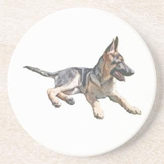 German Shepherd pup Coaster
