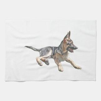 German Shepherd pup Kitchen Towel