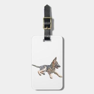 German Shepherd pup Luggage Tag