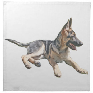 German Shepherd pup Napkin