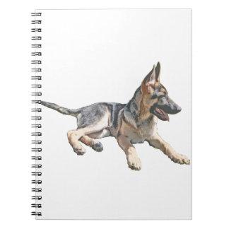 German Shepherd pup Notebook