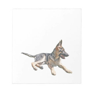 German Shepherd pup Notepad