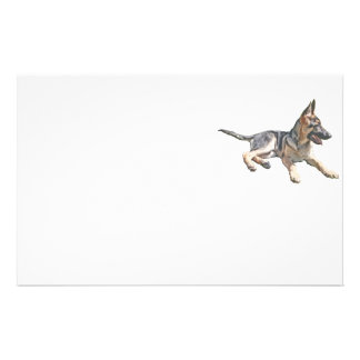 German Shepherd pup Stationery