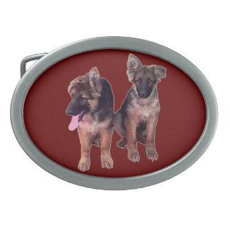 German Shepherd puppies Custom Belt Buckles