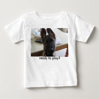"German Shepherd puppy baby shirt ""ready to play?"""