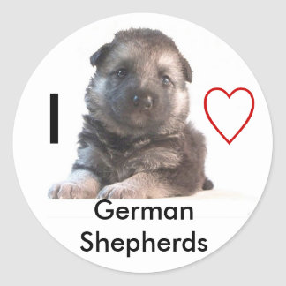 German Shepherd Puppy Classic Round Sticker