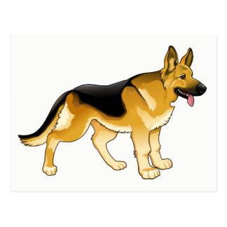 German Shepherd Puppy Dog - Hello, Thinking of You Postcard