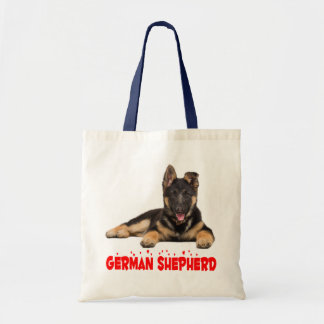 German Shepherd Puppy Dog Red Love Hearts