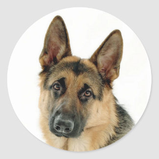 German Shepherd Puppy Dog Stickers / Labels