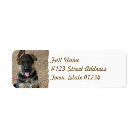 German Shepherd Puppy Mailing Label Return Address Label