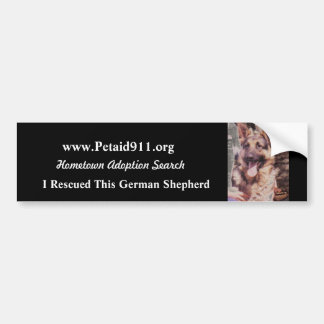 German Shepherd Rescue Bumper Sticker