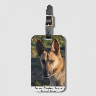 German Shepherd Rescue Central Texas luggage tag