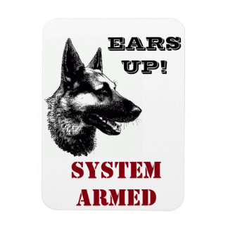 German Shepherd Rescue Central Tx funny magnet 3x4