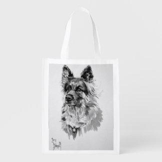 German Shepherd Reusable Bag Grocery Bag