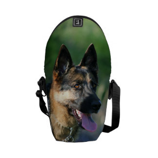 German Shepherd Rickshaw mini messenger bag
