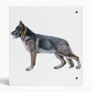 German Shepherd ring binder