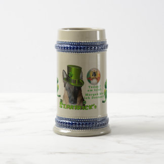 German Shepherd Saint Patrick's Day Beer Stein