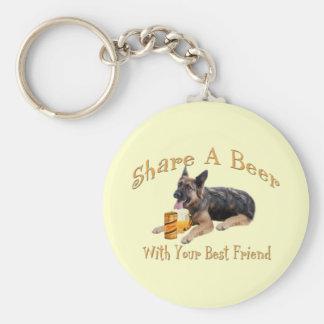 German Shepherd Shares A Beer Keychain