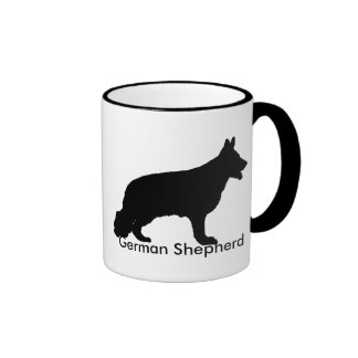 German Shepherd Silhouette Coffee Mug