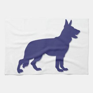 German Shepherd Silhouette Kitchen Towel