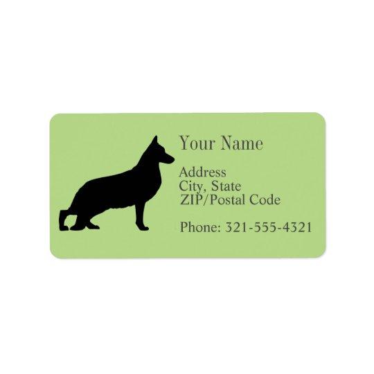 German Shepherd Silhouette Label