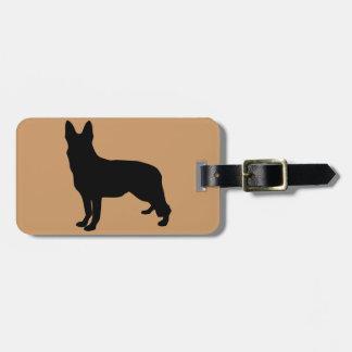 German Shepherd Silhouette Luggage Tag