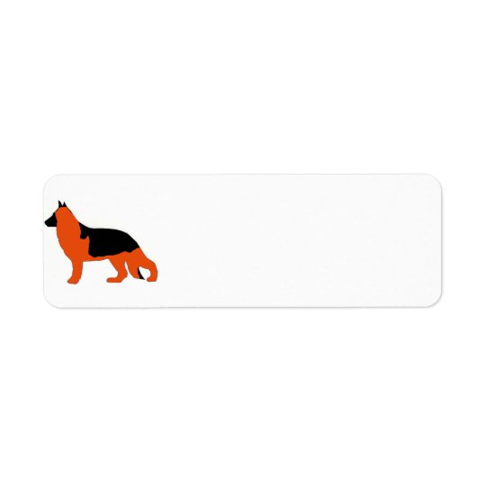 German Shepherd silo black and red Return Address Label