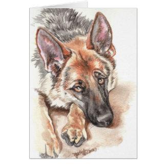"German Shepherd ""Soulful"" Card"