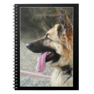 German Shepherd spiral notebook
