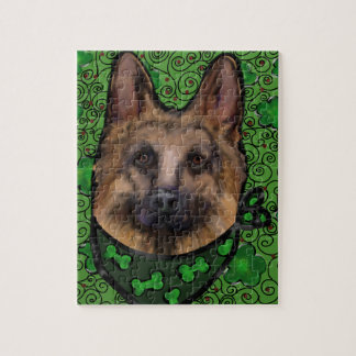 German Shepherd St. Patty Jigsaw Puzzle
