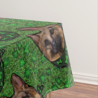 German Shepherd St. Patty Tablecloth