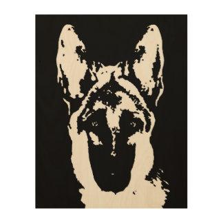 "German Shepherd Stencil Wood 11""x14"" Wall Art"