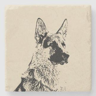 German Shepherd Stone Coaster