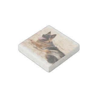 German Shepherd Stone Magnets