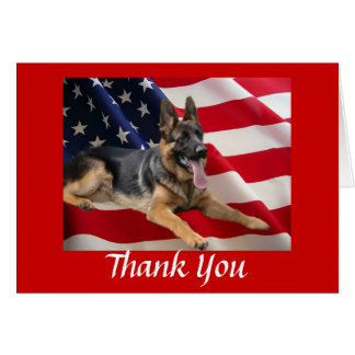 German Shepherd Thank You Card All American