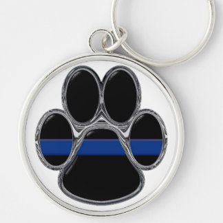 German Shepherd Thin Blue Line Keychain