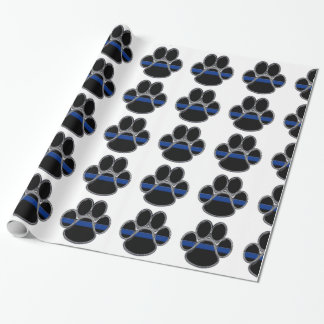 German Shepherd Thin Blue Line Wrapping Paper