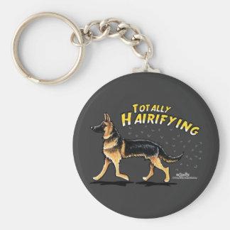 German Shepherd Totally Hairifying Basic Round Button Keychain