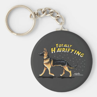 German Shepherd Totally Hairifying Keychain