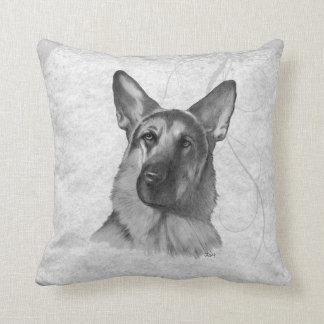 German Shepherd Two Throw Pillow
