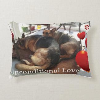 "German Shepherd ""Unconditional Love"" Decorative Pillow"