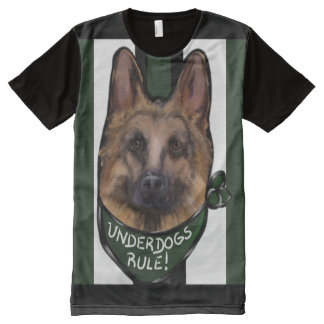 German Shepherd Underdog All-Over-Print T-Shirt